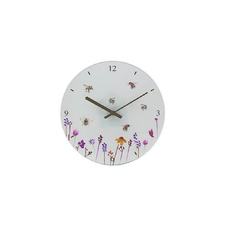 Busy Bees Glass Wall Clock